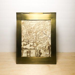 Brass Triangle Picture Frame Roost Modern Design